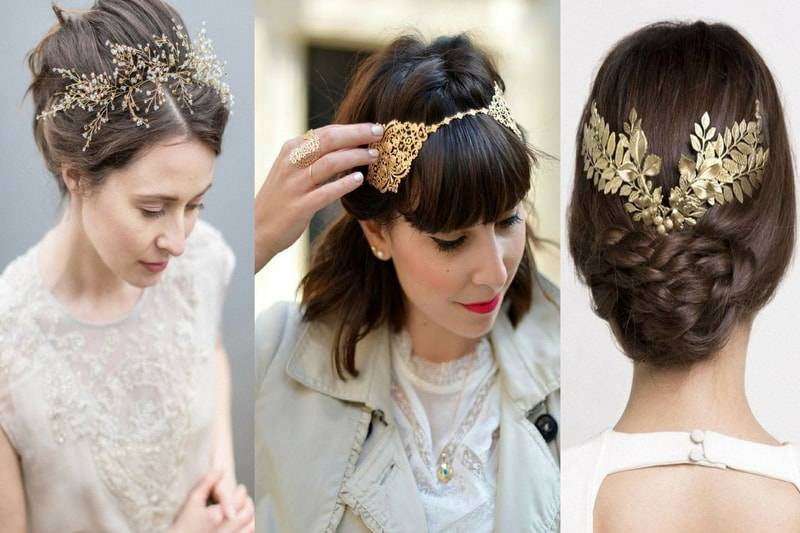 Three women with different hair accessories