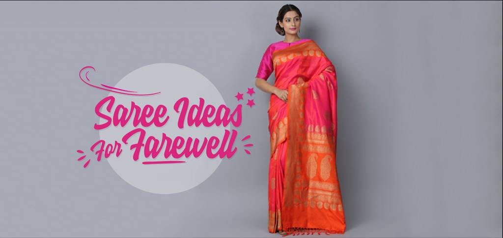 19d8d6f6994 How To Kill It At Your Farewell With These Saree Ideas