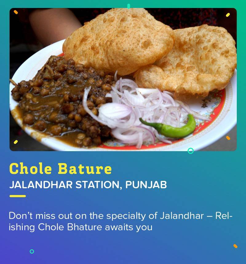 Chole Bature at Jalandhar Station is the food greatly relished by all the Punjabis