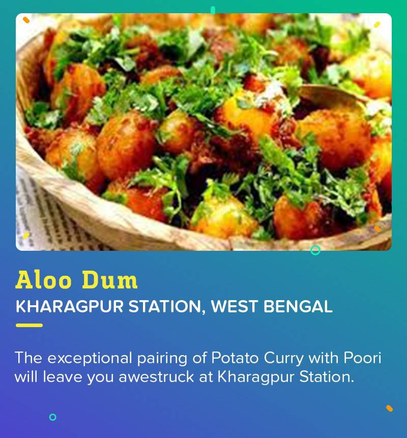 Aloo Dum at Kharagpur Station because macch bhaat is not always available