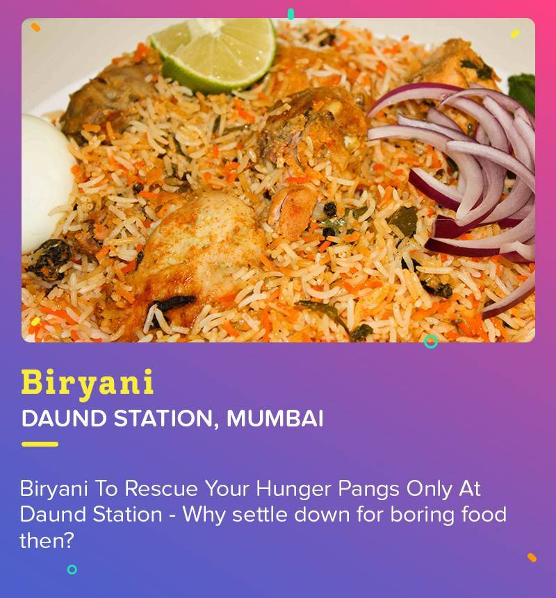 Biryani at Daund Station is the best to fulfill that hungry stomach